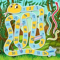 Snake Ladder Game-Vorlage vektor