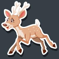 Cute dear character sticker