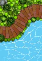 Luchtfoto van de tuin
