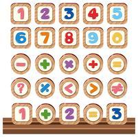 Set houten nummer-objecten