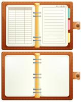 Set of notebook on white background vector