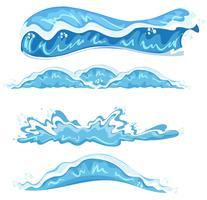 Set of different wave design