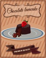 Chocolade lavacake op plaat