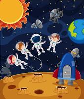 Astronaute dans l'espace scène