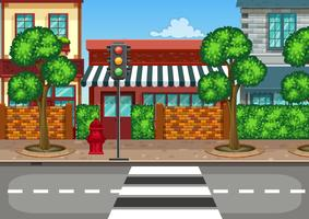 Uma visão de rua urbana