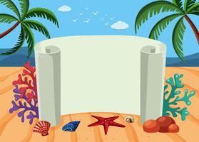 Banner template with beach background