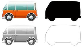 Set di furgoni vintage