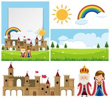 Background template with king and queen vector