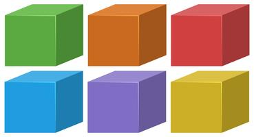set of colored boxes
