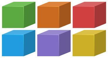 set di scatole colorate