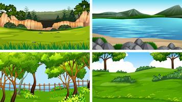 Set van natre landschap