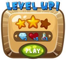 Level-up sjabloon op computerspel