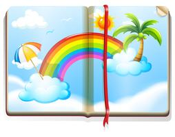 Prenota con arcobaleno nel cielo