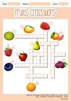 Concetto di parola croce di frutta