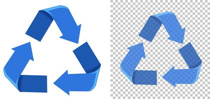 Set of blue recycling icons vector