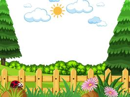Flat nature template background vector