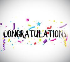 Modello di scheda di congratulazioni con nastri
