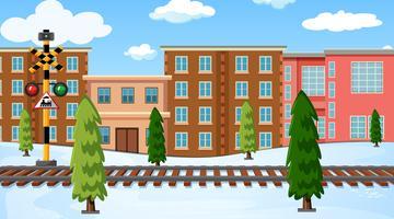 Un paesaggio invernale all'aperto