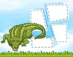 Krokodil lege frame sjabloon