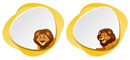 A set of lion blank template vector