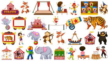 Large theme circus set