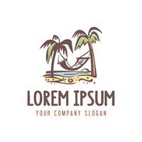 logo de vacances d'été. modèle de concept design style rétro