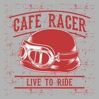 Cafe racer biker helmet with inscription Live to Ride-Ride to Live. Vintage typography art for tee shirt print,clothes,apparel.