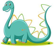Netter Dinosaurierweißhintergrund