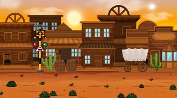Vecchia scena della città del deserto