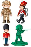 Different designs of toy soldiers