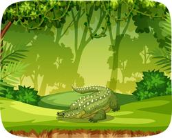 Crocodile on note template