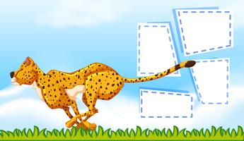 Cheetah frame sjabloon achtergrond