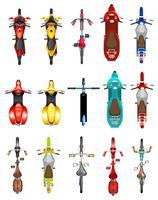 Set di vista aerea motobike