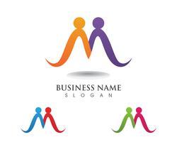 Adopción y cuidado de la comunidad Logo plantilla vector iconos
