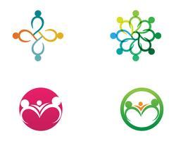 Le persone della comunità si preoccupano del modello di logo e simboli