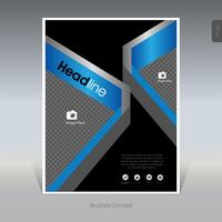 Abstract business brochure, cover design, flyer - Vector Illustration
