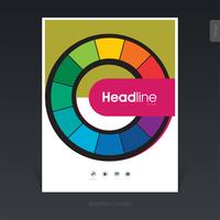 Abstract colorwheel business brochure, cover design, flyer - Vector Illustration
