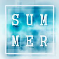 Summer holiday concept. Abstract color blue summer background. vector