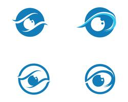 Eye care logo and symbols template vector icons