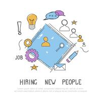 Find the right person for the job concept. Hiring and recruiting new employees