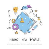 Encontre a pessoa certa para o conceito de trabalho. Contratação e recrutamento de novos funcionários