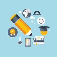 Ausbildung und Online-Lernhintergrund