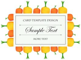 Card template with colorful carrots vector