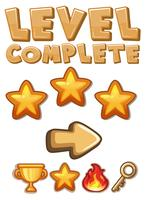 Game level complete element