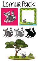 Packung mit Lemur-Charakter