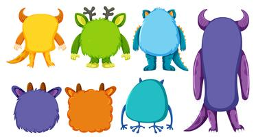Back ok monster collection vector