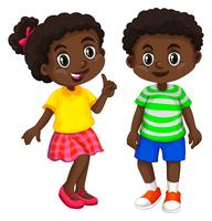 Boy and girl from Haiti vector