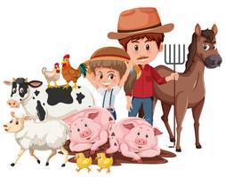 Landwirt und Nutztiere