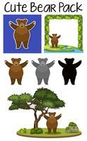 Um pacote de urso fofo