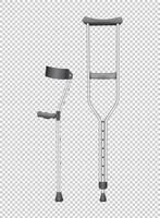 Two walking sticks for handicaped vector